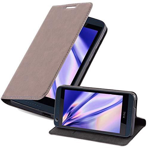 Cadorabo Hülle für HTC Desire 626G - Hülle in Kaffee BRAUN – Handyhülle mit Magnetverschluss, Standfunktion & Kartenfach - Case Cover Schutzhülle Etui Tasche Book Klapp Style