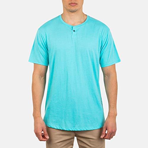 Goodthreads maglietta a maniche corte da uomo leggera senza colletto e con abbottonatura Marchio