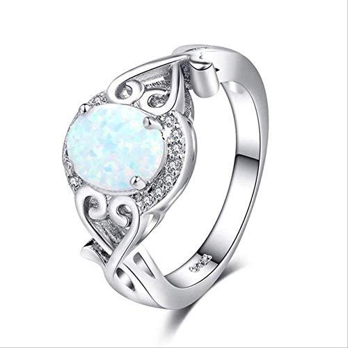 IWINO White Fire Opal zilveren trouwringen voor vrouwen paar verlovingsring voor charme vrouwelijke sieraden accessoires