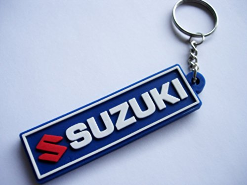 Keychains llavero-Suzuki-Blue-Motocross-Motorcycle-Motorbike-Car-Scooter-Key Ring-Kautschuk rrubber Keyring-Perfect also Bags, Wallets oro Briefcase-Give away