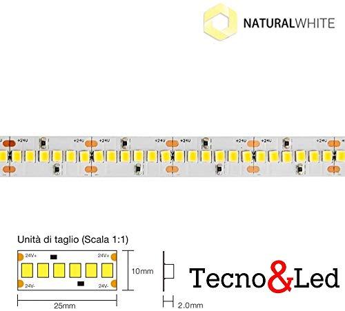 STRIP STRISCIA LED 1200SMD2835 130W 110Lm/w IP2010MM 24V IP20 2700K/4000K/6000K (Bianco naturale 4000K)