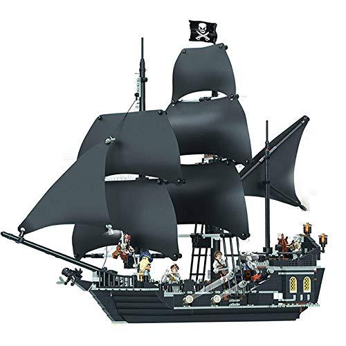 804 piezas Piratas del Caribe Caribe Negro Pearl Ship Building Block Model (Compatible con Lego)