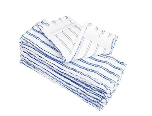 10x Microfaser-Möppe für Gewerbetreibende - Wischmöppe für 50cm Mopphalter - Wischbezüge mit Abrasivstreifen - Professionelle Taschenbezüge