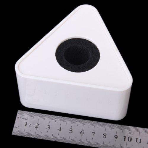 LEORX ABS Mic Microphone Triangular Interview Logo Flag Station (White)