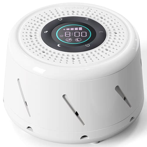 Bestand White Noise Machine New Generation Real Fan Sleeping Sound Machine with Intelligent Mode, Timer and LED Display for Noise Cancelling Sleep Therapy Office Privacy Travel Adults Baby