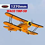 DYNAM RC Airplane Waco Yellow V2 1270mm - PNP(w/o Tx,Rx,Battery)