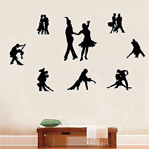 Zbzmm Viele Latin Tänzer Figuren Wandaufkleber Wallfor Dance Studio Klassenzimmer Schulen Workshops Decor45 * 60 Cm