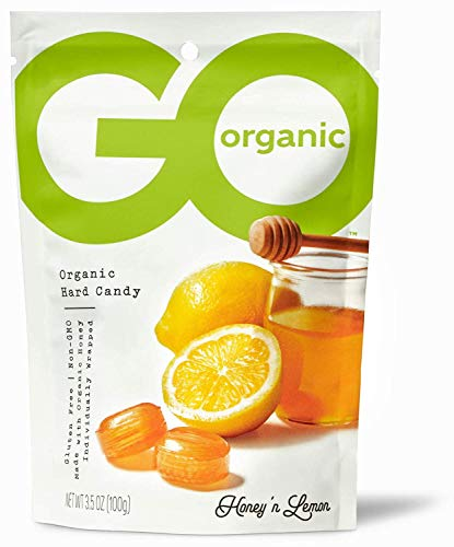 GoNaturally Organic Honey Lemon Gluten Free Hard Candies 35Ounce Bags Pack of 6