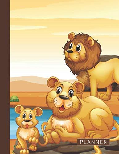 Planner: 2 Year (2021 & 2022) Weekly Planner | Wild Safari Animals | January 21 - December 22 | Writing Notebook | Datebook Calendar Schedule | Plan Days, Set Goals & Get Stuff Done