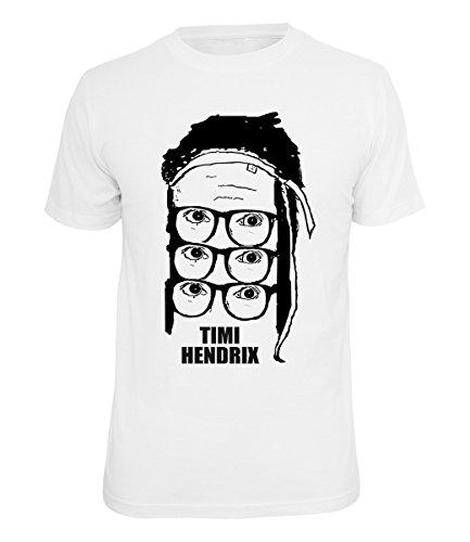 Timi Hendrix T-Shirt Logo weiß, Farbe:Weiss, Größe:S