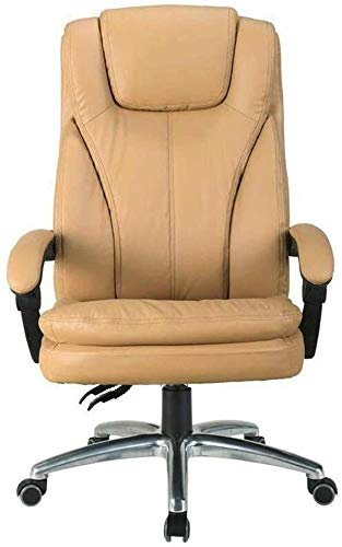 WYL Executive Recline Office Chairs Furniture, Extra Padded High Back Reclining Leather Relaxing Ergonomic Swivel Executive with Footrest Lounge Chair Office Chair