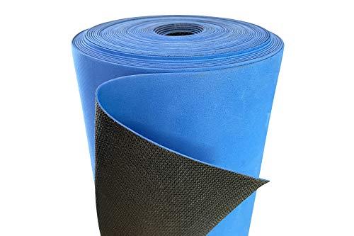 Nostra Trittschalldämmung, 1.5mm Stärke - rutschfeste Oberfläche für Klick- & SPC Vinyl, EVA Material mit PE-Folie - 20 m² pro Rolle, NostraSonic Antislip (3 Rollen, 60 Quadratmeter)