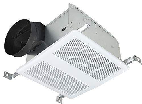 KAZE APPLIANCE SE110T Ultra Quiet 110-CFM 0.9-Sones Bathroom Exhaust Fan, White