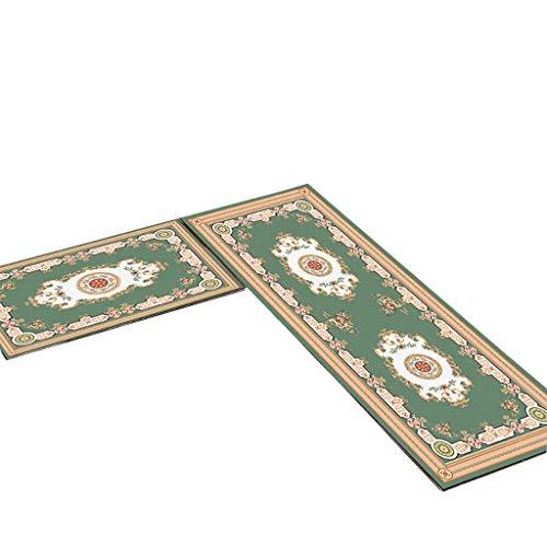 Kitchen mats Tapis de Cuisine met Amour Longue Bande étanche Tapis antidérapant Simple Ménage Lavable en Machine Tapis de Porte Tapis de Sol Chambre Carpet, E, 50 * 80+50 * 120cm