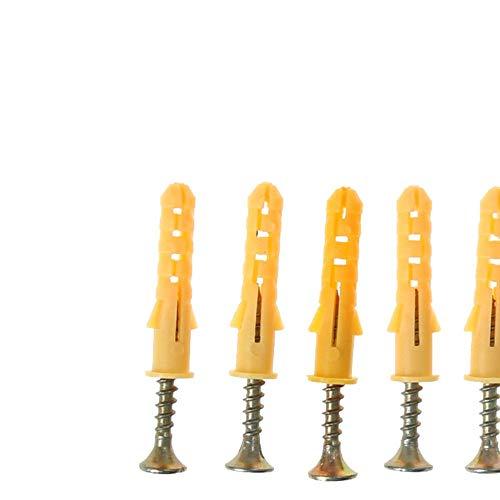 50 stks 30 X 6mm Schroeven Rubber Expansiepijp Platte Ronde Kop Zelftappende Schroef Nylon Buis Muur Hout Hardware Tool, 30x60mm, als beschrijving