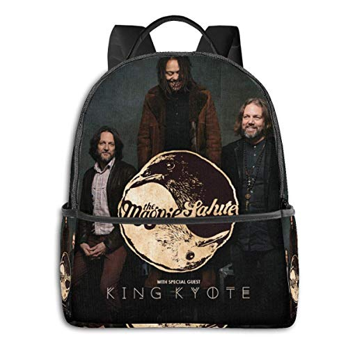 IUBBKI Mochila lateral negra Mochilas informales The Magpie Salute University School Large Capacity Backpack Computer Bag Unisex Suitable Hiking Variety Outdoor Sports