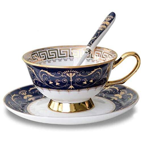 LH Euro Style Coupe et Soucoupe en Porcelaine d'art en céramique thé Tasse de café for Le Petit déjeuner - Modèles de Royal, for la Maison de Cuisine Café Cadeaux, 200ml