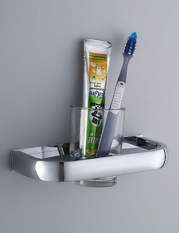 Faym @ soporte para cepillo de dientes, Contemporáneo Acabado cromado Uno (Cristal y Acero Inoxidable, accesorios de bao, cromo