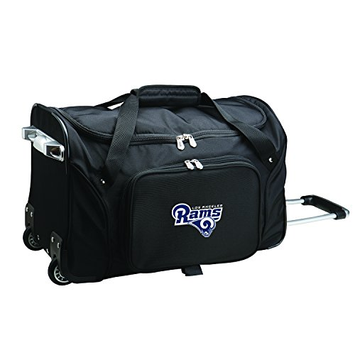 For Sale! NFL Los Angeles Rams Wheeled Duffle Bag, 22-inches