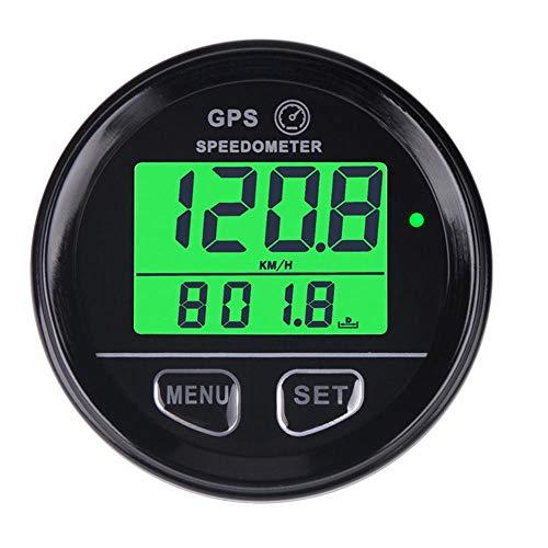 Velocímetro de la motocicleta 60mm GPS Velocímetro Indicador de cuentakilómetros digital LCD...