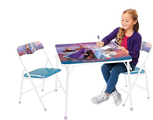Frozen 2 Table & Chair Set, Folding Table & 2 Folding Padded Chairs