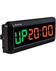 N/ A 1.5 Inch 6 Digitale Led Interval Timer Stopwatch Countdown Klok voor Gym Fitness Thuis (Groen/Rood)
