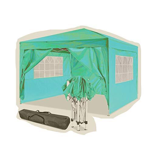 Jackbobo - Tienda de campaña para jardín (3 x 3 x 6 m, resistente al agua, 3 x 3 m, color dorado