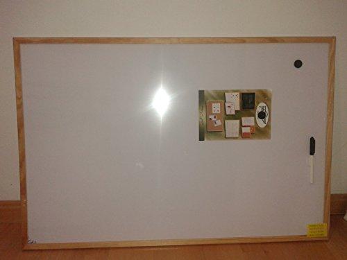 Faibo 844849 - Magnetische Whiteboard-Tafel 60X90 Holzrahmen