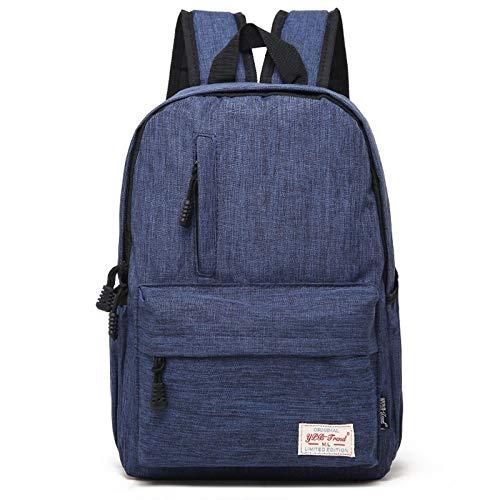 Luoshan múltiples Funciones Universal de Lona Hombros Ordenador portátil Bolsa Leisurely Backpackage Estudiantes Bolsa, de Gran tamaño: 42x29x13cm, for 15.6 Pulgadas y por Debajo de Macbook, Samsung,