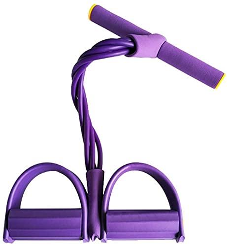 Bandas de Resistencia para Interiores Equipo de Ejercicio elástico para Fitness Tire hacia Arriba del Tirador de Pedal de Tobillo rrb Bandas de Entrenamiento Deportivo Púrpura