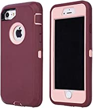 Case for iPhone 6S / iPhone 6,[Heavy Duty] Built-in Screen Protector Tough 3 in 1 Rugged Shorkproof Cover for Apple iPhone 6 / iPhone 6S (Wine/Rose)
