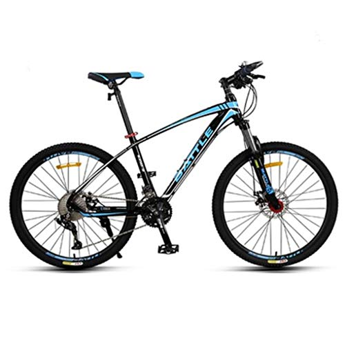 JLFSDB Mountain Bike,26 Inch Aluminium Alloy Frame Bicycles,Double Disc Brake and Locking Front Suspension,33 Speed (Color : Blue)