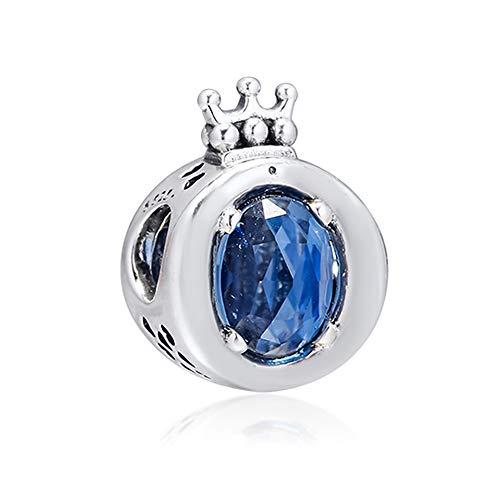 BAKCCI 2019 Jesień Niebieska Błyszcząca Korona O Koralik Srebro 925 DIY Pasuje do oryginalnych bransoletek Pandora Charm Modna biżuteria