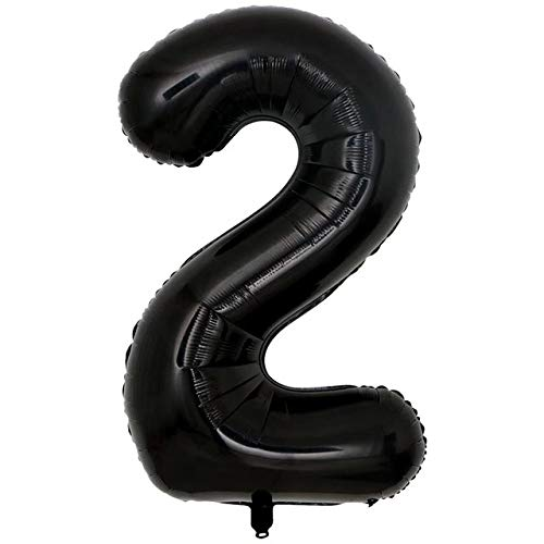 Great Price! Xucus 50pcs 40inch 0-9 Black Number Balloon Digit Aluminum Foil Balloons Birthday Party...
