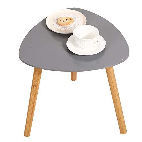 SJQWE Coffee Einde Tafels Moderne Eenvoud Meubels, Decor Driehoek Bijzettafel voor Woonkamer Balkon Huis en Kantoor, Draag en Krasbestendig, Grijs