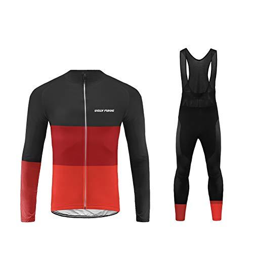 Uglyfrog 2019 MTB Rennrad Radsport Trikots Bikingjacke Fahrrad Jacke Hose Set Radjacke Winter Leicht Wasserfest Windjacke Lange Radhose Freizeithose Anzüge