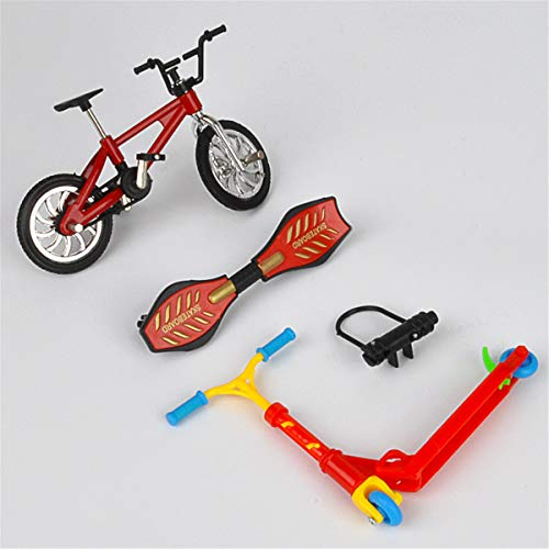 unknow AK-Once Finger Scooter Spielzeug, Kinder Lernspielzeug Zweirad Finger Scooter Bike Set, 27 Stile