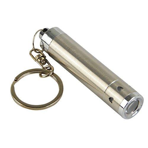 BKL1® LED Schlüsselanhänger 1 LED Metall Taschenlampe Edel silber Hell 1543