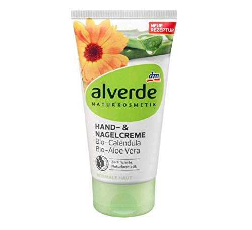 Alverde Hand- & Nagelcreme mit Bio-Calendula und Bio-Aloe Vera - Naturkosmetik - 75 ml