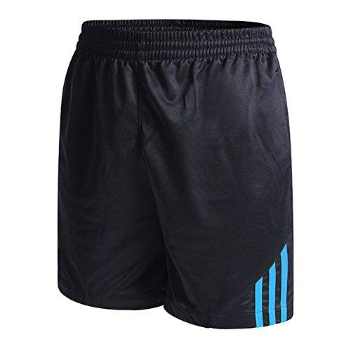 Juleya Femme Homme Short de Sport été Pantalons Court Fitness Running Jogging Baket-Ball Gym Plage Short Respirant Sportswear Bleu XL
