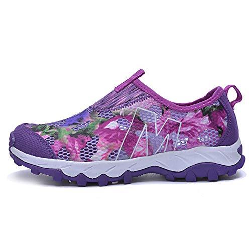 Aerlan Running Shoes with Air Padding,Zapatos Deportivos para Correr,Zapatos para Correr de Malla,Zapatos para Correr,Zapatos Deportivos Transpirables,Outdoor-Purple_40#