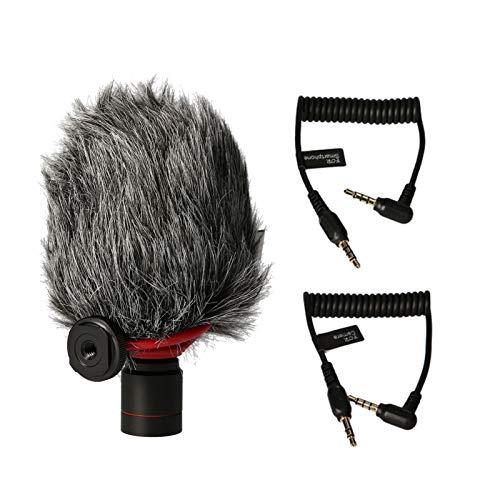 Staright Kit de microfone de câmera de smartphone com microfone shotgun condensador supercardióide para gravação de vídeo vlogging transmissão ao vivo para smartphones, tablets e câmeras de PC