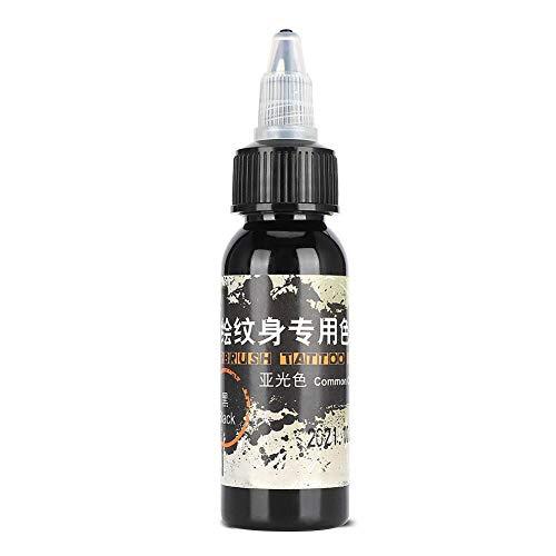 Encre de tatouage temporaire, 30 ml d'encre de tatouage mat imperméable à l'eau pigment de tatouage coloré dessin pigment(NOIR)