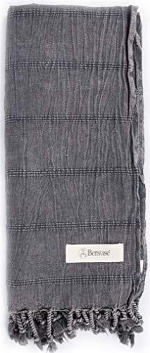 Bersuse Toalla de Mano turca Anatolia 100% algodón, Color Burdeos
