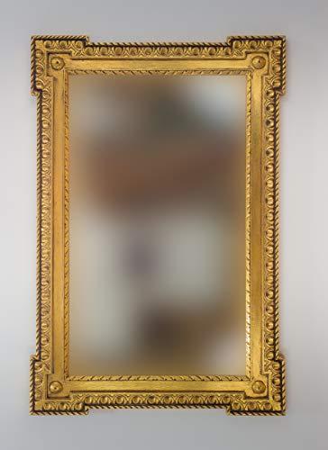Rococo Espejo Decorativo de Madera Profile Carved de 150x100 en Oro (Envejecido)