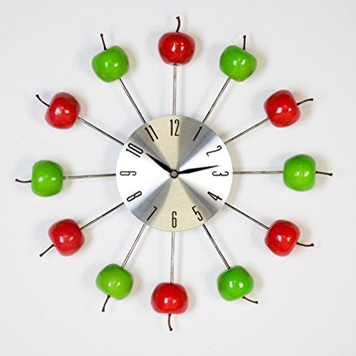Casablanca Moderne Uhr Apple rot/grün Wanduhr