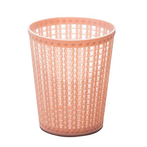 EDCR Simple Desktop Litter Trash for Car Desktop Office Waste Bin Small Trash Can Mini Desktop Litter Trash-Pink