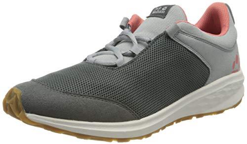Jack Wolfskin Coogee Low K Sneaker, Grau (Dark Grey/Rose 6328), 35 EU