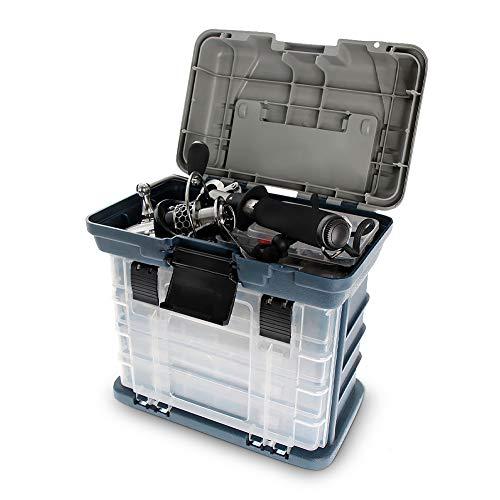 大容量タックルボックス収納ボックスルアーケース4段式仕掛けやリール等の収納に軽量釣り具釣り道具箱釣りアクセサリーWH35A