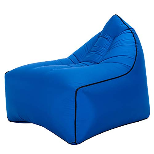 Sofa Hinchable Portátil Uso En Playa Piscina Camping Parque Impermeable Aire Sofá Inflable Sillón para Interior Exterior,Gris Negro